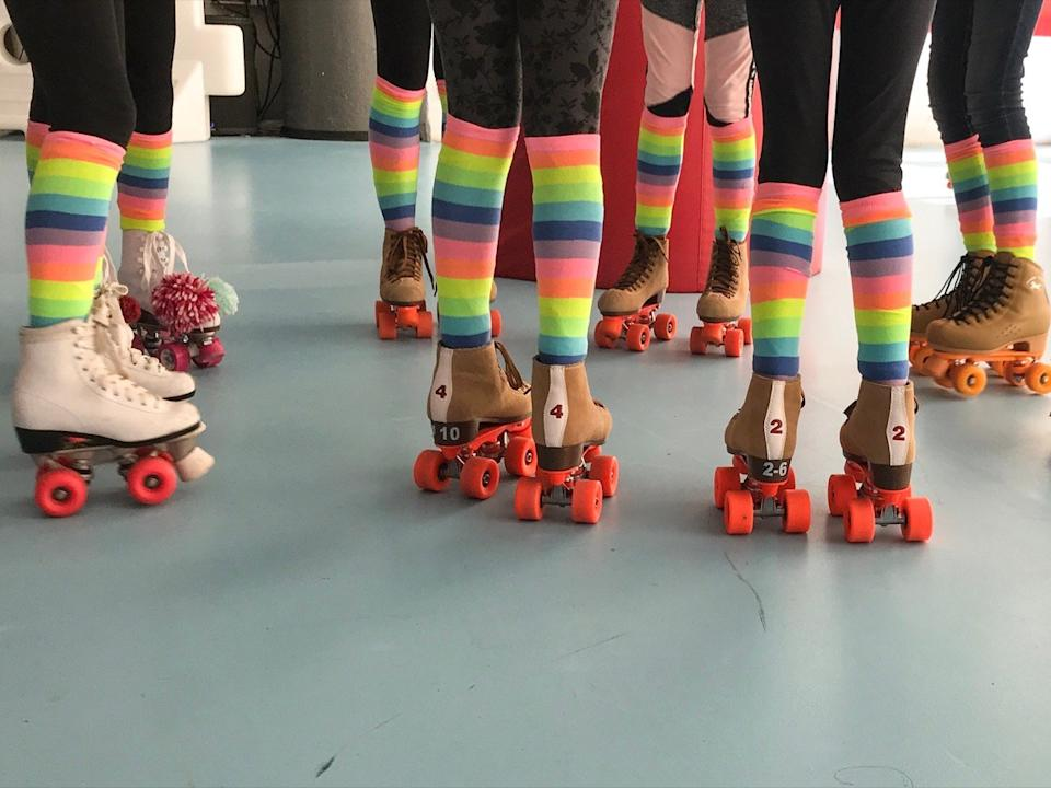 Roller skate party girls