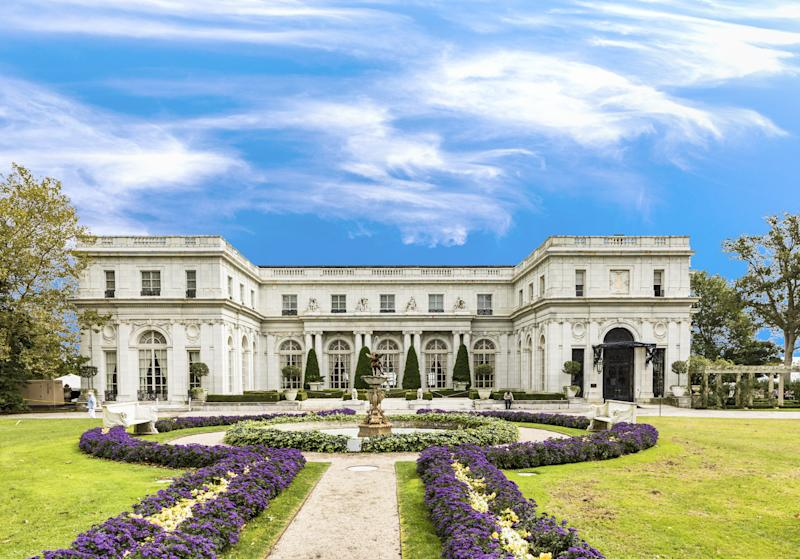The historic Rosecliff Mansion.