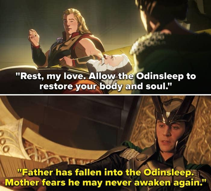"""""""Father has fallen into the Odinsleep; Mother fears he may never awaken again"""""""