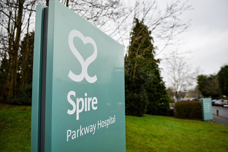 Spire Healthcare sign (PA Archive)