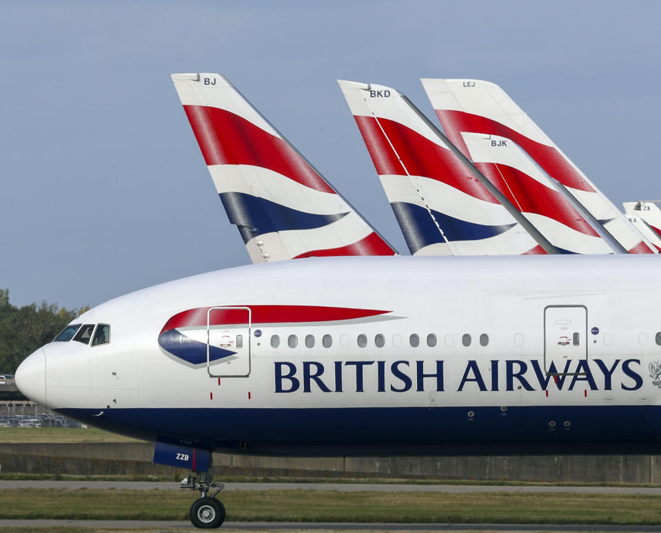 A British Airways Boeing 747 plane takes off from Heathrow Airport. (Photo by Steve Parsons/PA Images via Getty Images)