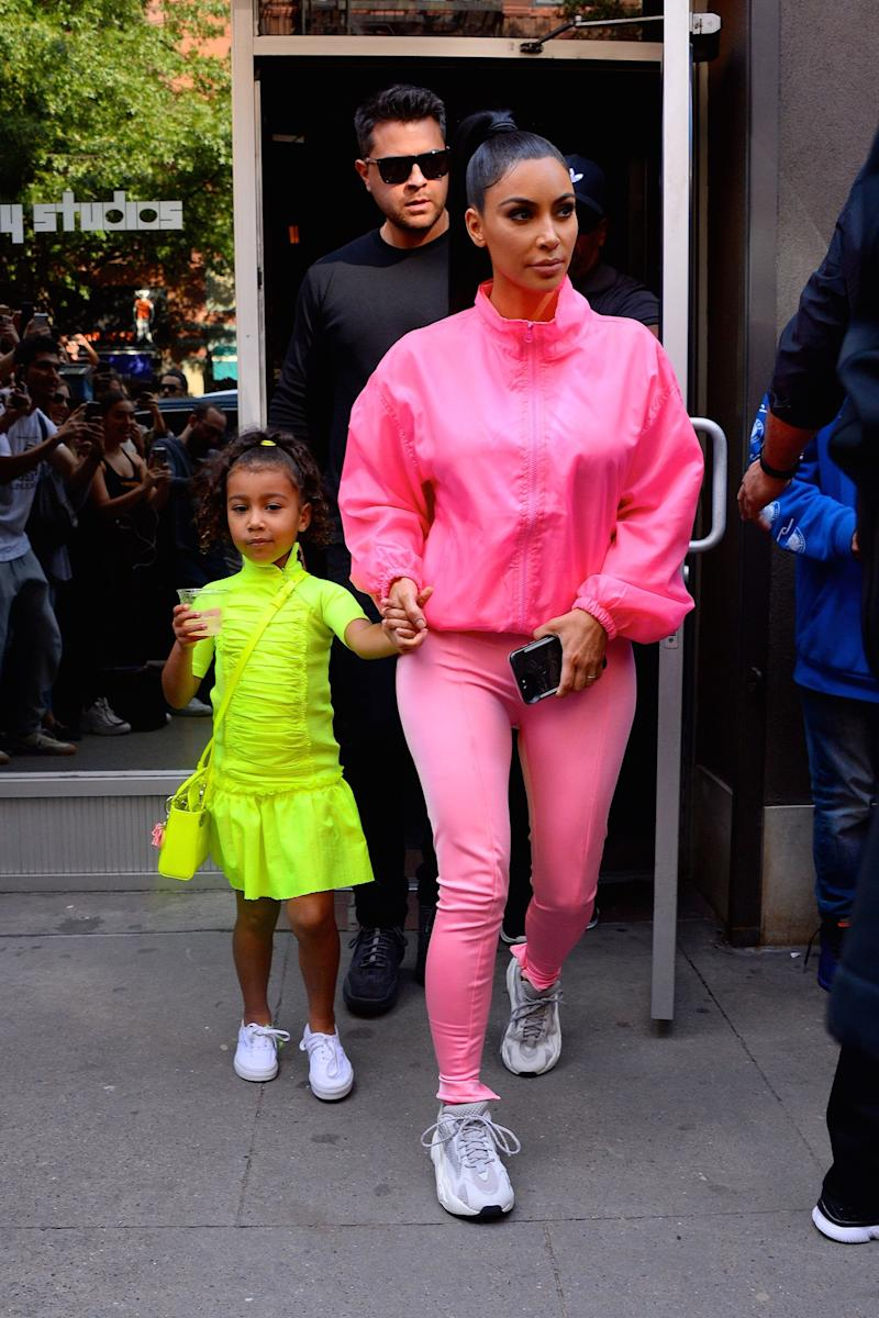 Kim Kardashian with North West in NYC