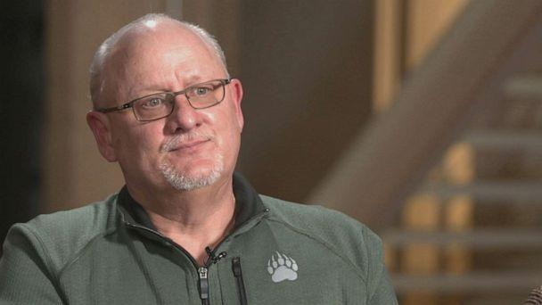 PHOTO: Scott Grissom speaks to ABC News about his father, sister and son, who were killed by Danny Rolling months before he went on to kill five students in Florida in 1990.  (ABC News )
