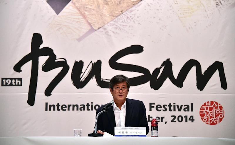 Lee Yong-Kwan, director of the Busan International Film Festival (BIFF), speaks during a press conference in Seoul on September 2, 2014