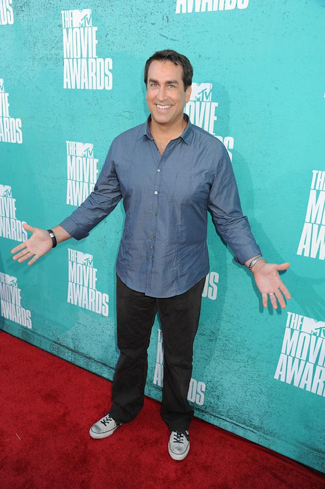 Rob Riggle arrives at the 2012 MTV Movie Awards.