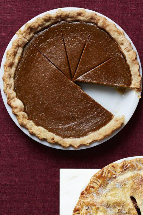 "<p>Sometimes is best to stick with a classic, no-fair recipe, which is exactly what this is. Whipped cream optional. </p><p><strong><a rel=""nofollow"" href=""https://www.womansday.com/food-recipes/food-drinks/recipes/a56478/pumpkin-pie-recipe/"">Get the recipe. </a></strong></p>"
