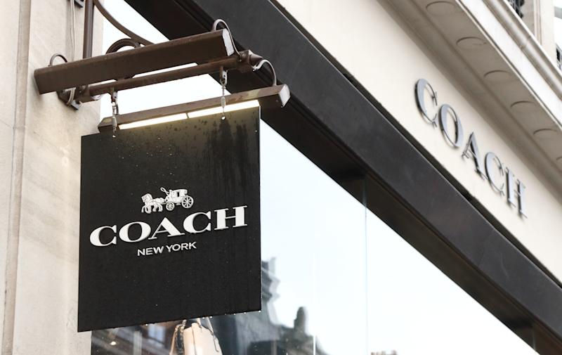 LONDON, UNITED KINGDOM - 2019/01/27: Coach store and brand logo seen in London. (Photo by Keith Mayhew/SOPA Images/LightRocket via Getty Images)