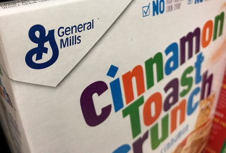 General Mills breakfast cereal is shown for sale in Carlsbad, California,