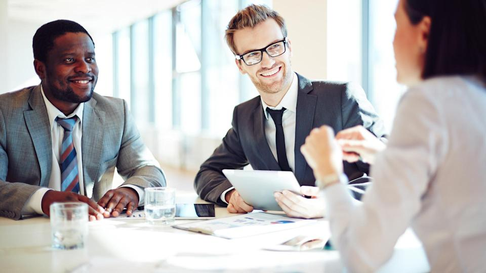 """<p>Median salary: $<span>60,350</span></p> <p>If there's one thing human resources professionals should get right, it's work-life balance. After all, they're the ones at the forefront of introducing and updating policies and benefits that impact work-life balance and should set an example, according to Good.</p> <p>""""Most HR positions have standard work hours,"""" he said. """"But there are aspects of the profession, such as recruiting, that can take place outside the normal 9-to-5 schedule.""""</p> <p>Given technological advances, recruiters can work from nearly anywhere and at any time. In Glassdoor's annual report, corporate recruiters ranked the highest for work-life balance, with a 4.1 rating out of 5. If you're a people person, this career could be for you.</p> <p><strong><em>Read More: <a href=""""https://www.gobankingrates.com/making-money/jobs/laws-protecting-paycheck/"""" rel=""""nofollow noopener"""" target=""""_blank"""" data-ylk=""""slk:Meet the Laws Protecting Your Paycheck"""" class=""""link rapid-noclick-resp"""">Meet the Laws Protecting Your Paycheck</a></em></strong></p>"""