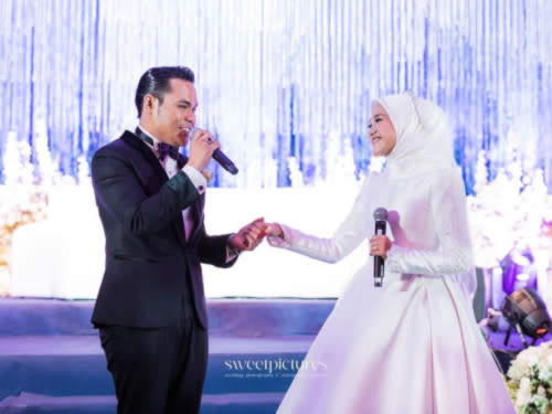 The couple also performed their song at the wedding