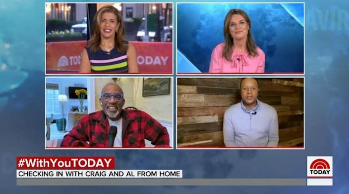 "NBC's ""Today"" team clockwise from left: Hoda Kotb, Savannah Guthrie, Craig Melvin and Al Roker."