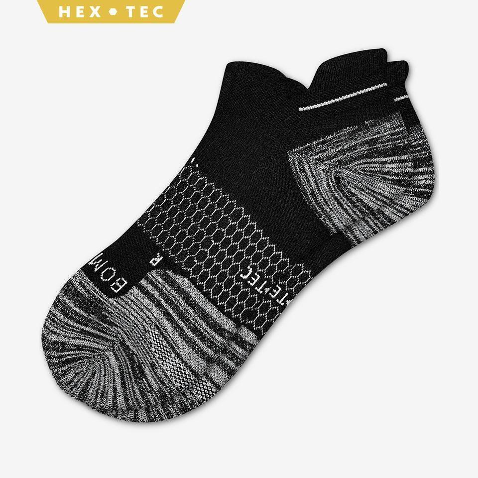 """<p><strong>Bombas</strong></p><p>bombas.com</p><p><strong>$16.00</strong></p><p><a href=""""https://bombas.com/products/womens-performance-running-ankle-sock?variant=white"""" rel=""""nofollow noopener"""" target=""""_blank"""" data-ylk=""""slk:Shop Now"""" class=""""link rapid-noclick-resp"""">Shop Now</a></p><p>Before you say socks are lame, these are not your average pair. The Bombas performance socks offer a super-comfy feel, reinforced cushion tab to prevent blisters, and extra arch support. Plus, for every pair you buy, one pair is donated to the homeless. </p>"""