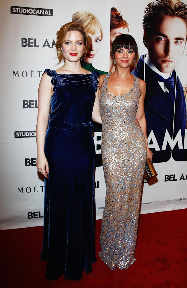 "BERLIN, GERMANY - FEBRUARY 17:  Actresses Holliday Grainger and Christina Ricci attend the ""Bel Ami"" Party during day nine of the 62nd Berlinale International Film Festival at Meistersaal on February 17, 2012 in Berlin, Germany.  (Photo by Andreas Rentz/Getty Images)"