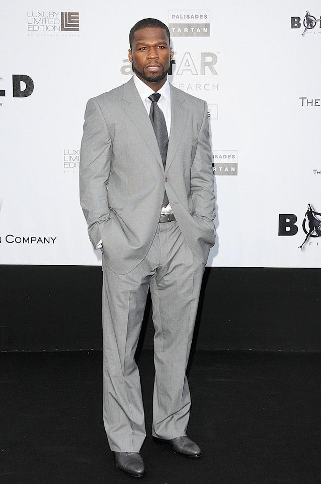 "Don't you love seeing 50 Cent in a suit? He cleans up nicely! Tony Barson/<a href=""http://www.wireimage.com"" target=""new"">WireImage.com</a> - May 21, 2009"
