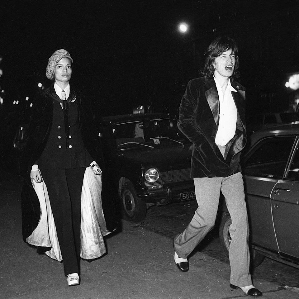 <p>Bianca Jagger's style stands out as a beacon of sartorial nuances, glamour and the disco-infused excess of the '70s and '80s. Flipping effortlessly between menswear-inspired pieces, liquidy maxi dresses, and calf-length capes, the former actress had an enviable wardrobe and eye for fashion unmatched by her fellow Studio 54 attendees. What's more: she even wore a suit jacket to marry Mick Jagger. <i>(Photo via Getty Images)</i></p>