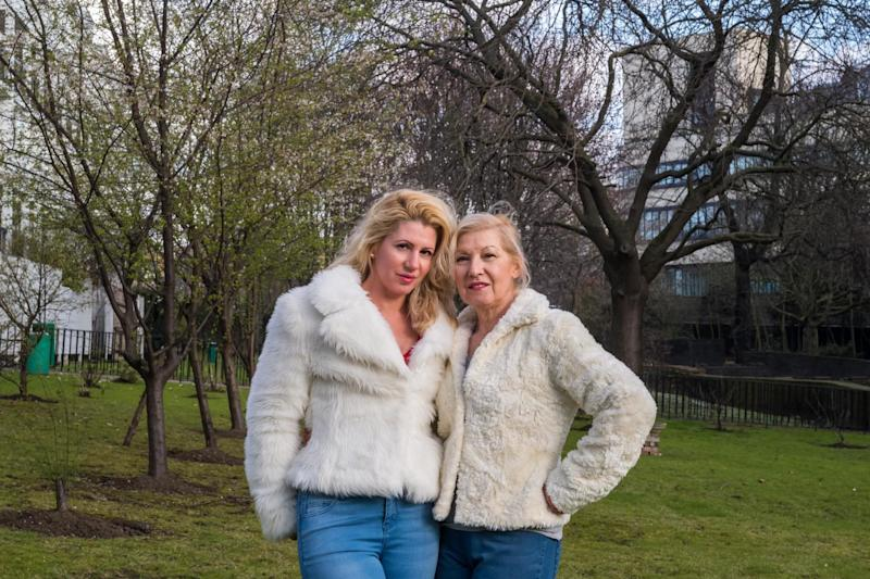 'It looks an amateurish mess. It has hugely affected how we enjoy the space' Christina Sego, pictured in the garden with her mother Vanessa: Alex Lentati