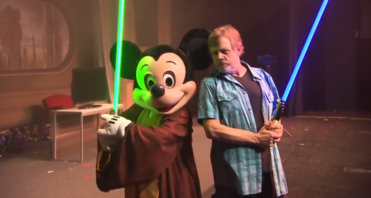 Mark Hamill and Mickey Mouse