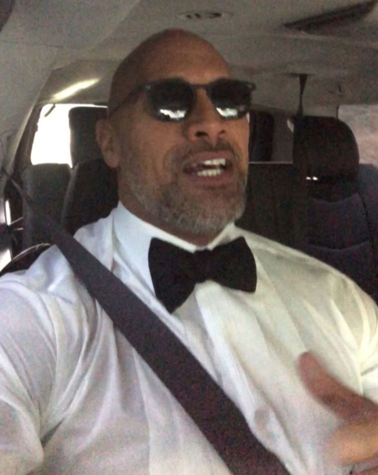 "<p>The Rock gave a glimpse of his ride to the big event, voicing gratitude to his fans. (Photo: <a rel=""nofollow"" href=""https://www.instagram.com/p/Bdqsm4DFipE/?taken-by=therock"">The Rock via Instagram</a>) </p>"