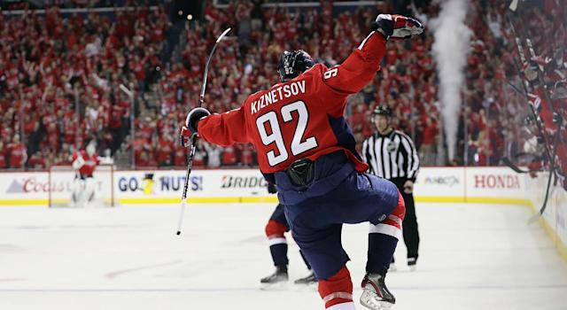 Evgeny Kuznetsov will be banned from the IIHF for four years. (Getty)