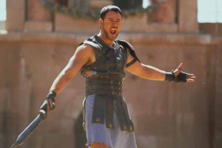 The statue was part of a promotion for Gladiator in 2000 (Rex)