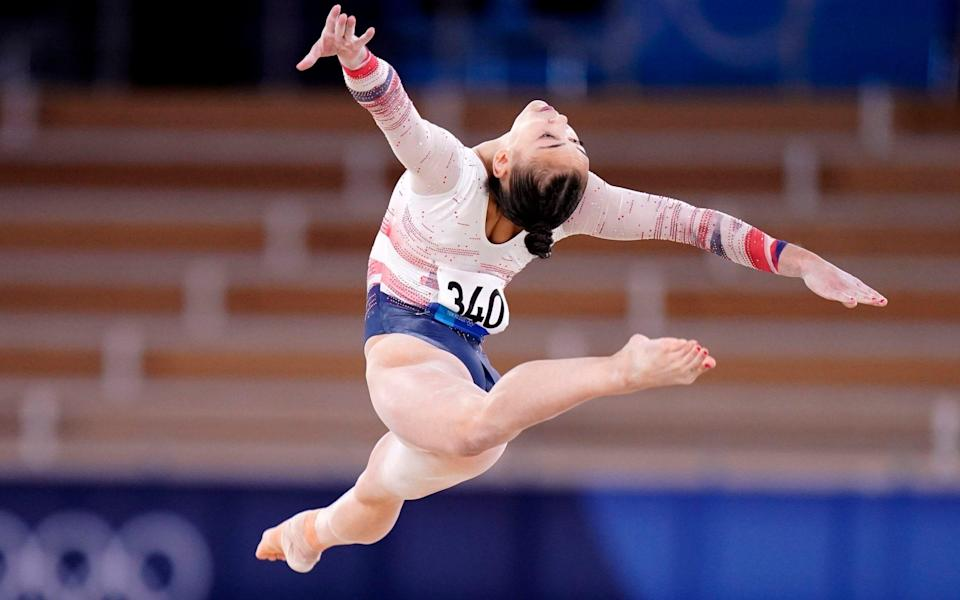Great Britain's Jessica Gadirova in action on the floor during the Women's Qualification Subdivision 2 - Danny Lawson/PA Wire