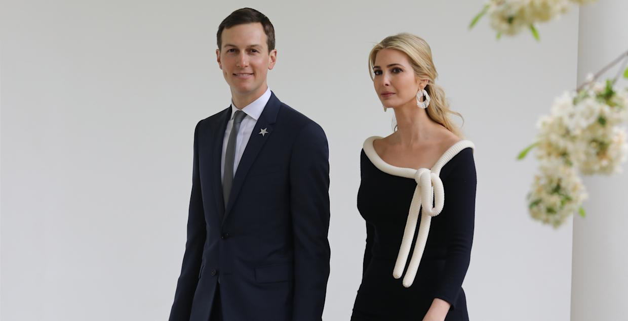 Ivanka Trump and Jared Kushner reportedly pretended to attend Karlie Kloss' second wedding bash [Photo: Getty]