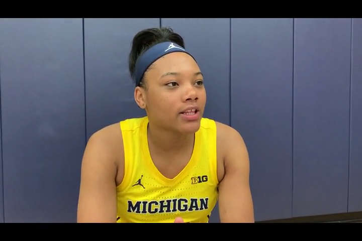 Naz Hillmon, the Big Ten freshman of the year, will be a major part of Michigan's offensive plan this season.