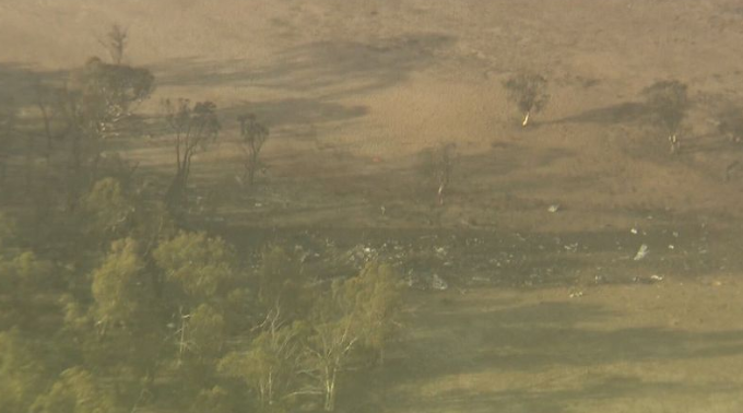 A crash site in the NSW Snowy Mountains where an aircraft crashed.
