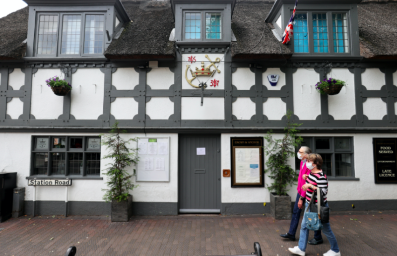The Crown and Anchor in Stone has closed following confirmed cases of coronavirus. (Reuters)