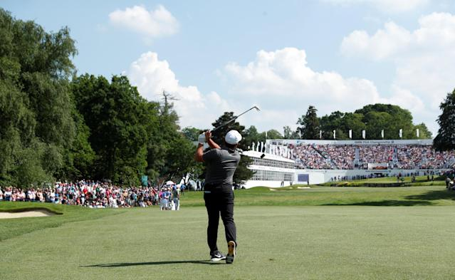 Golf - European Tour - BMW PGA Championship - Wentworth Club, Virginia Water, Britain - May 27, 2018 Italy's Francesco Molinari in action during the final round Action Images via Reuters/Peter Cziborra