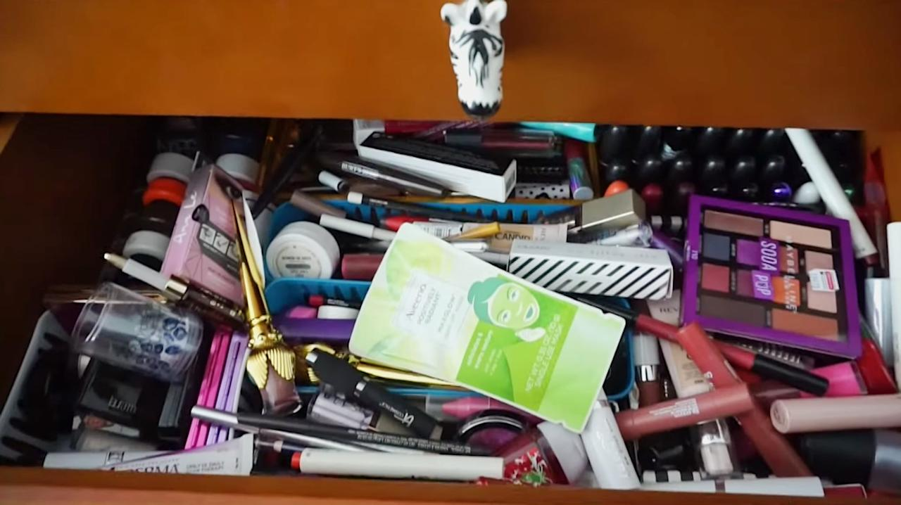 <p>With limited storage space in New York City, I'm forced to get a little creative with how I store my beauty products. Before I started my declutter, I had half a credenza (aka three drawers) hiding all my makeup, bathroom cabinets stocked with hair, skin, and body products, and a few tote bags overflowing with products in closets and under my bed. </p>
