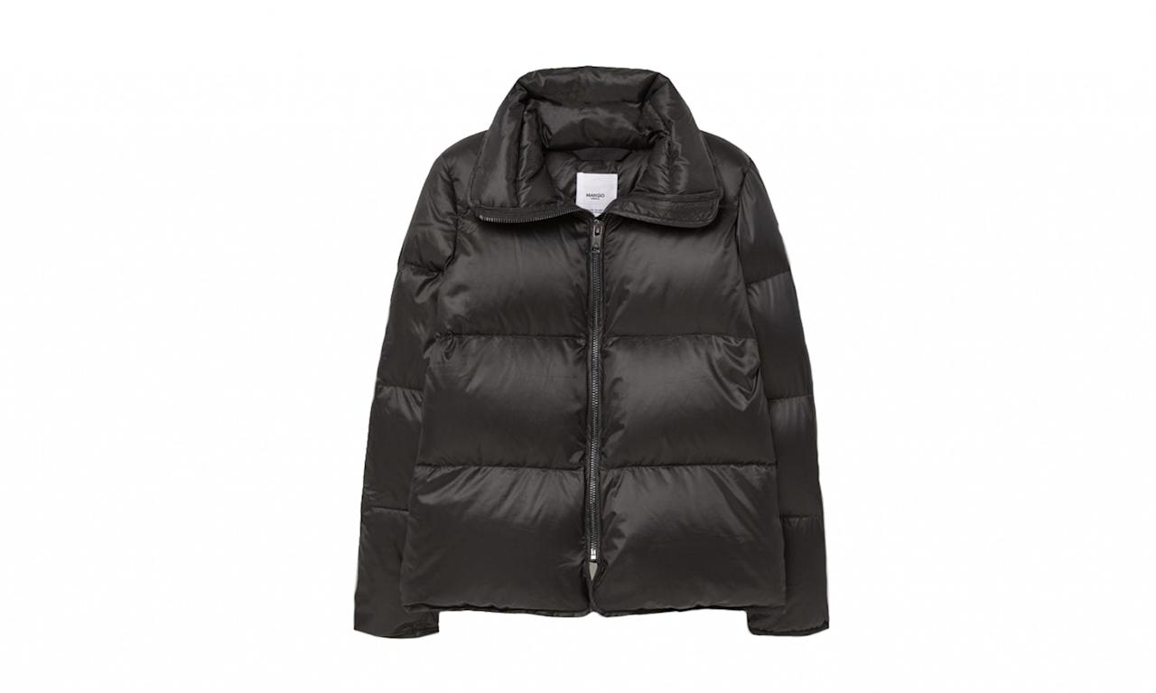 "<p>Feather down coat, $80, <a rel=""nofollow"" href=""http://shop.mango.com/US/p0/women/clothing/coats/puffer--quilted/feather-down-coat?id=73055503_99&n=1&s=prendas.abrigos"">Mango.com</a> </p>"