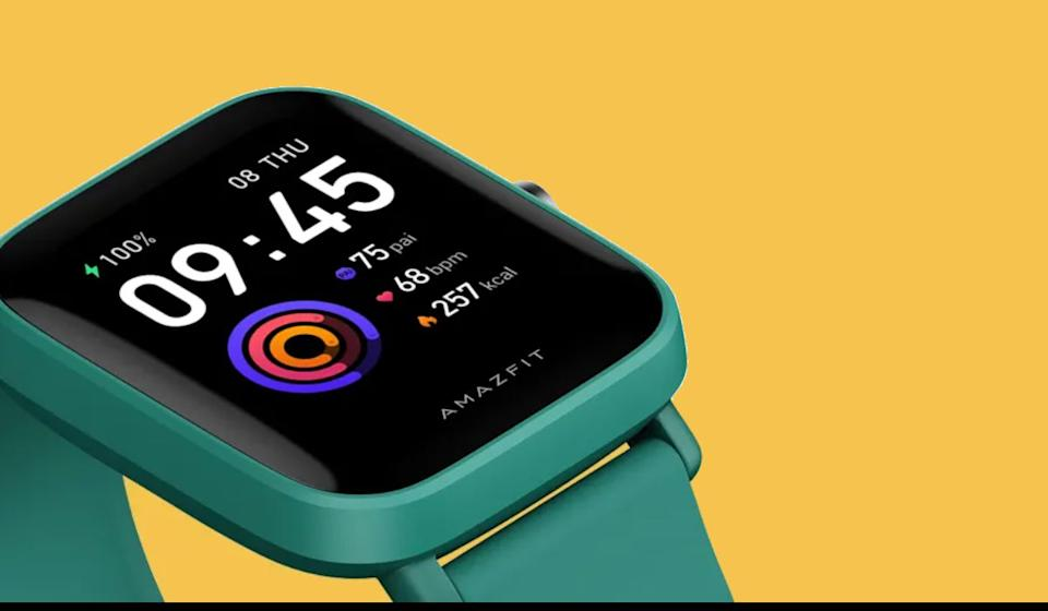 Hello, plastic pal! Available in black, green and pink, the Bip U Pro can keep tabs on your steps, sleep, heart rate and other important health info.