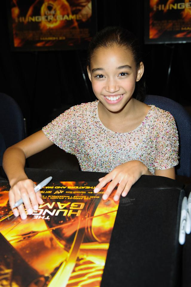 PLANTATION, FL - MARCH 08:  Amandla Stenberg visits the Broward Mall on March 8, 2012 in Plantation, Florida.  (Photo by Gustavo Caballero/Getty Images for Allied-THA)