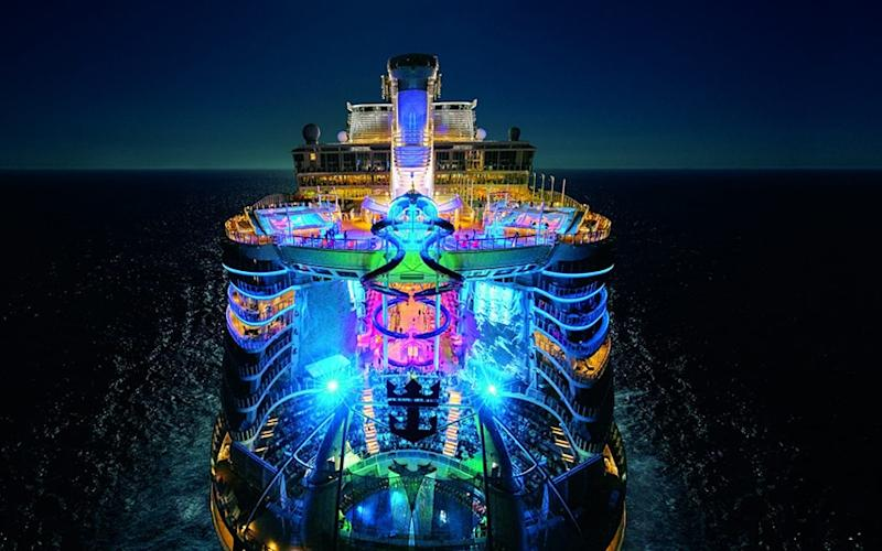 A rendering of Symphony of the Seas, which will be the world's largest cruise ship when it launches next April