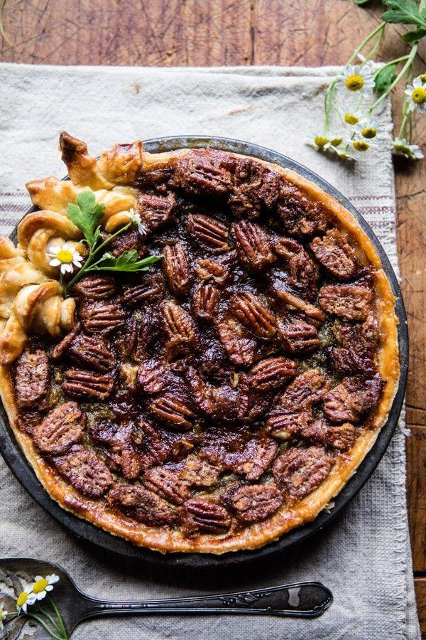 "<p>With pecans, bourbon, and a generous amount of brown sugar, this pie is the ultimate southern experience. </p><p><a href=""https://www.halfbakedharvest.com/nonnies-kentucky-derby-pie/"" rel=""nofollow noopener"" target=""_blank"" data-ylk=""slk:Get the recipe from Half Baked Harvest »"" class=""link rapid-noclick-resp""><em>Get the recipe from Half Baked Harvest »</em></a></p>"