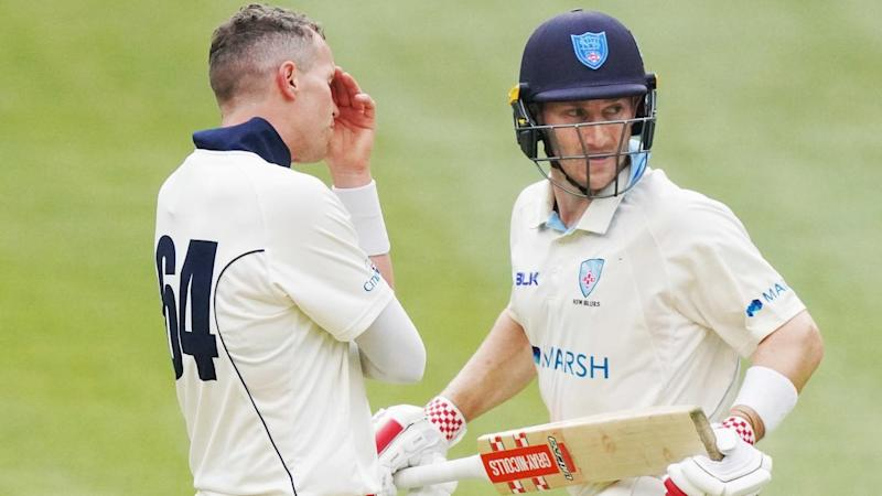 Peter Nevill (r) was key as NSW'regrouped after Victoria dominated their Sheffield Shield clash