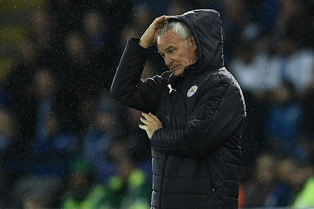 Despite a 100 percent Champions League record Leicester City manager Claudio Ranieri is worried his team is struggling domestically (AFP Photo/Oli Scarff )