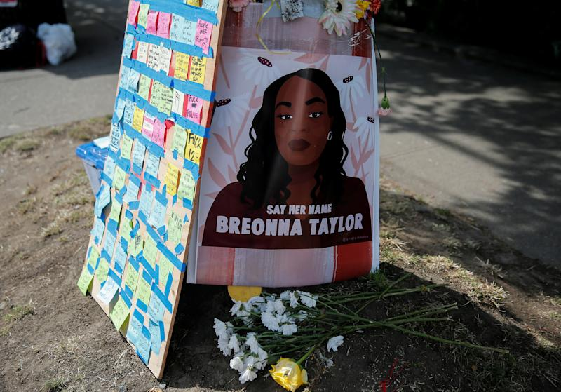 A Seattle protest sign demands justice for Taylor. (Photo: REUTERS/Lindsey Wasson)