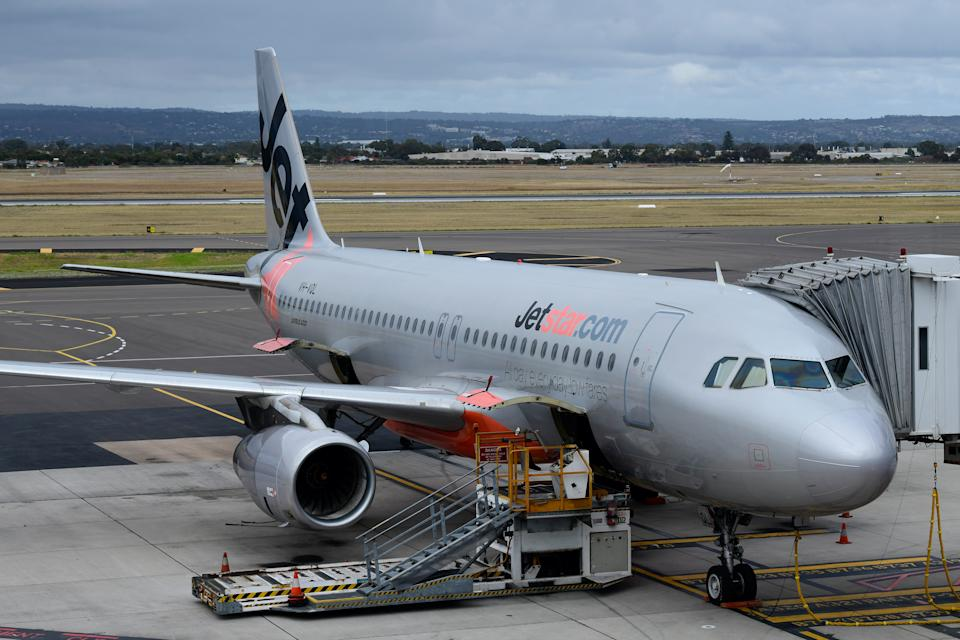 Picture of a Jetstar aircraft, the budget airline will be cutting domestic and international flights amid coronavirus outbreak