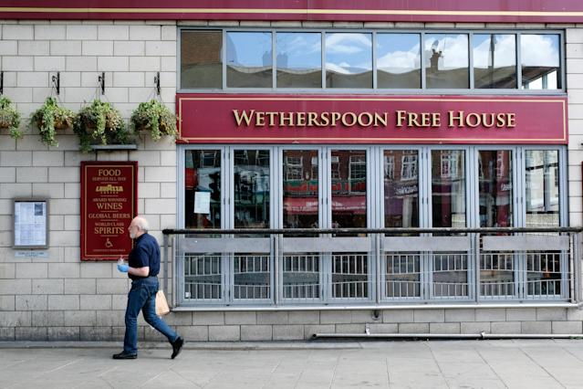 JD Wetherspoon pubs will begin reopening from the 4 July with safety measures in place. Photo: Matthew Chattle/Barcroft Media via Getty Images