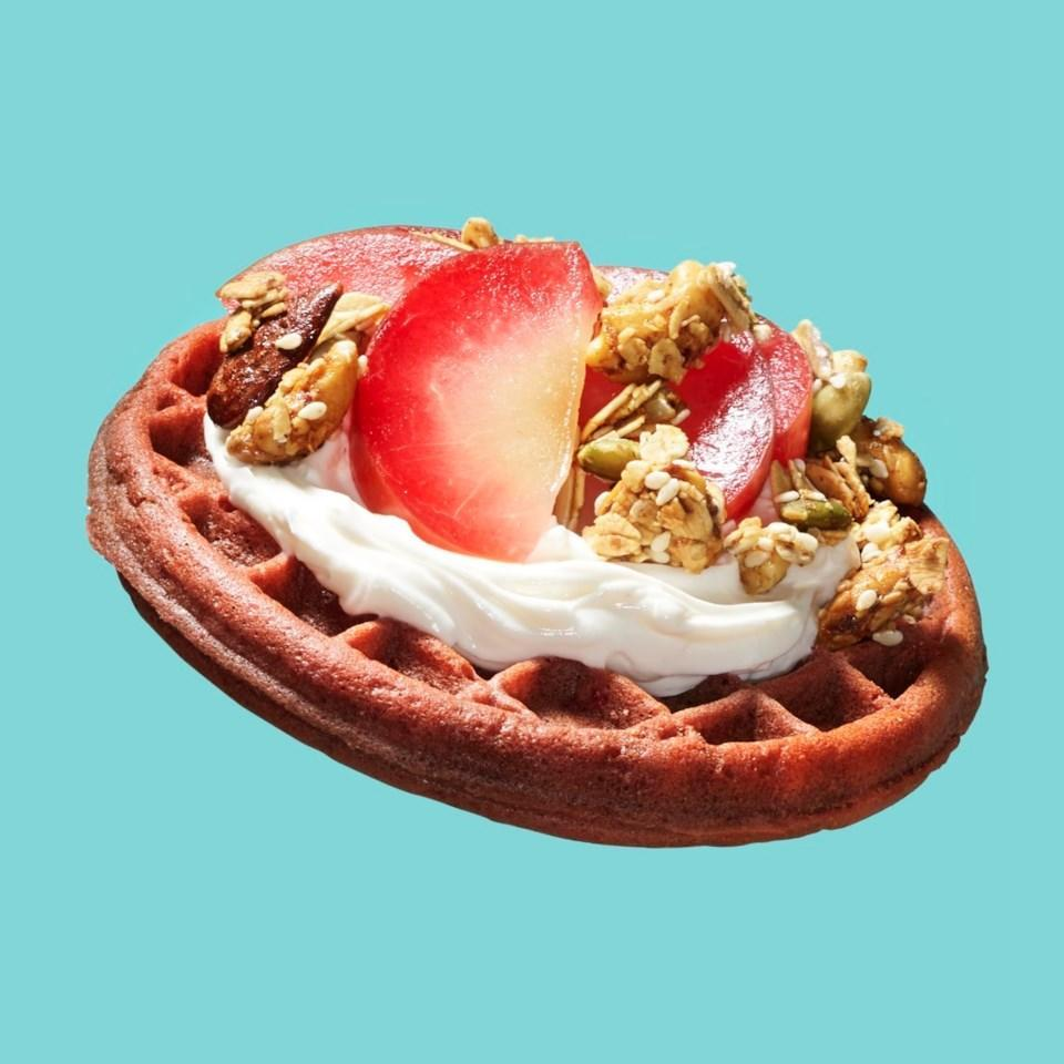 <p>Top a toasted frozen waffle with cream cheese, plums and granola for a healthy breakfast in a pinch. Loaded with protein, fiber and whole grains, this recipe will keep you full and satisfied all morning.</p>