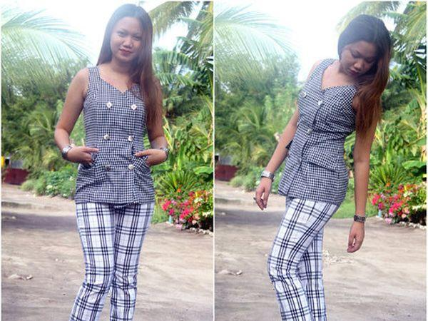 Images via : iDiva.com Wear a plaid top with a similar pair of pants. Source: StylePile Related Articles - Trend Alert: Graphic Knits Trend Alert: 10 Ways to Rock Tartan