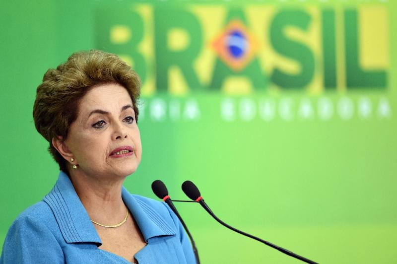 Brazilian President Dilma Rousseff is accused of manipulating accounts to mask the country's deficit (AFP Photo/Evaristo Sa)