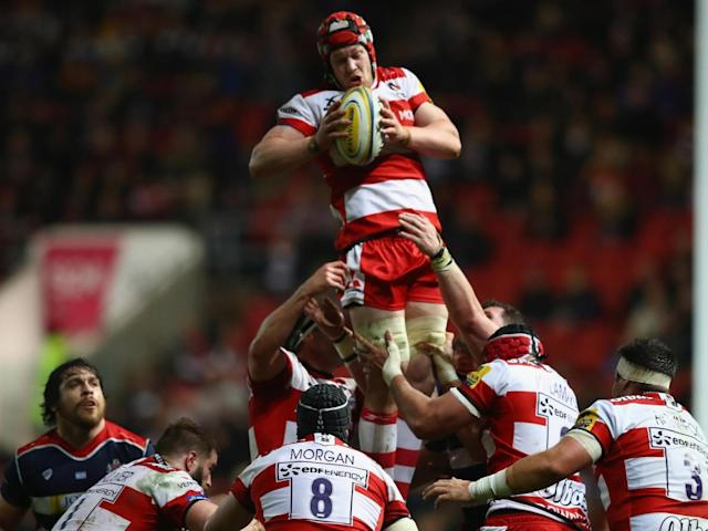 Tom Savage wins a lineout for the visitors (Getty)