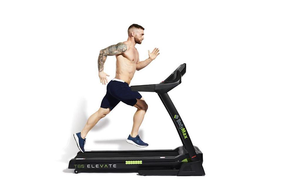 <ol><li>Increase the incline on a treadmill</li><li>Sprint at full speed for the designated time, pumping your arms high and staying light on your feet<b>.</b></li></ol>