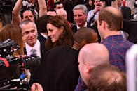 "<p>Major cool parent points! Duchess Kate and Prince William talk to <a href=""https://www.harpersbazaar.com/celebrity/latest/news/a4611/prince-william-kate-middleton-meet-beyonce-jay-z-new-york-tour/"" rel=""nofollow noopener"" target=""_blank"" data-ylk=""slk:Beyoncé"" class=""link rapid-noclick-resp"">Beyoncé</a> and Jay-Z at a Brooklyn Nets game in Brooklyn, New York.</p>"