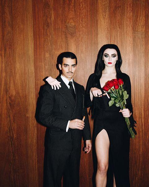 "<p>Jophie were unrecognizable as Morticia and Gomez Addams, the matriarch and patriarch of the Addams family. </p><p><a href=""https://www.instagram.com/p/BpoGSSqBlLI/?utm_source=ig_embed&utm_medium=loading"" rel=""nofollow noopener"" target=""_blank"" data-ylk=""slk:See the original post on Instagram"" class=""link rapid-noclick-resp"">See the original post on Instagram</a></p>"