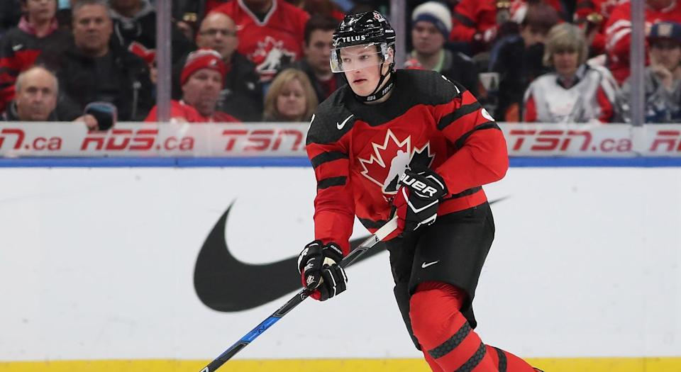 Cale Makar has reportedly turned down an invite to the Olympics. (Photo by Kevin Hoffman/Getty Images)