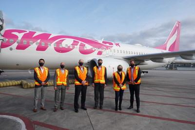 Swoop Takes Off From Toronto Pearson Airport (CNW Group/Swoop)